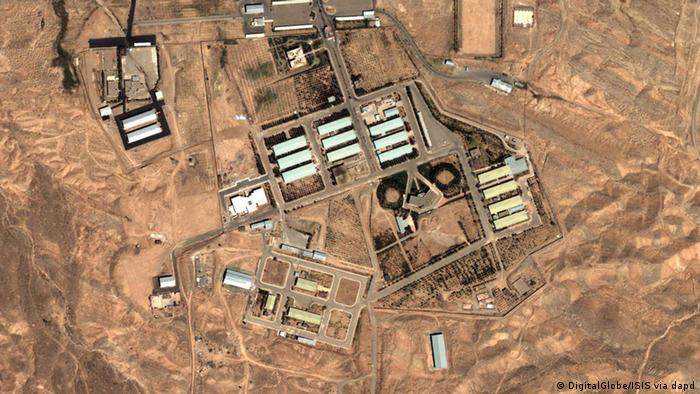 In this Friday, Aug. 13, 2004 satellite image provided by DigitalGlobe and the Institute for Science and International Security shows the military complex at Parchin, Iran.