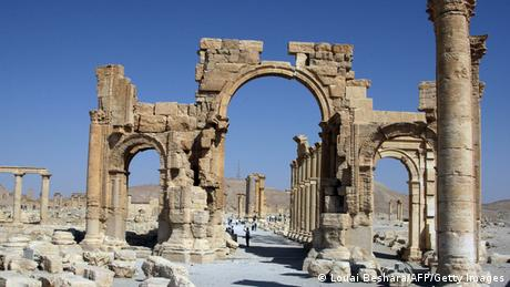 Syrien Archäologie Triumphbogen in Palmyra