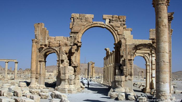 Tourists are seen visiting Palmyra also known as Tadmur in Arabic, 220 km northeast of the Syrian capital Damascus