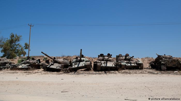 A tank cemetary in Misrata
