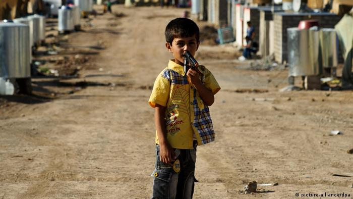 A Syrian refugee child in the camp of Dohuk (Photo: dpa)
