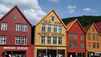 Norwegen - Holzhäuser in Bergen