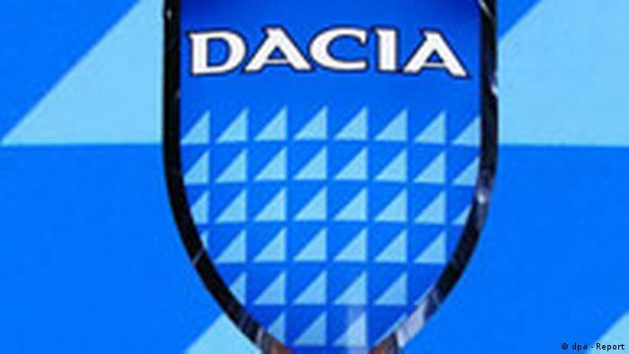 Das Logo der rumänischen Automarke Dacia