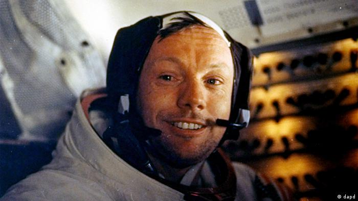 Neil Armstrong right after walking on the moon - inside the Lunar Module while on the lunar surface