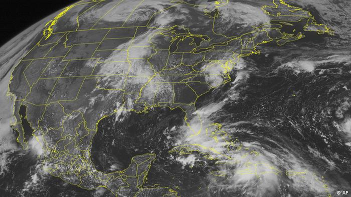 Satellite image of Tropical Storm Isaac AP PHOTO/WEATHER UNDERGROUND).