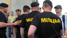 Polizeibeamte der Miliz in Weißrussland