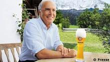 Werbung für Erdinger Weißbier: Screenshot TV Spot, Beckenbauer