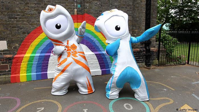 Die Paralympics-Maskottchen Wenlock and Mandeville. Foto: Getty Images