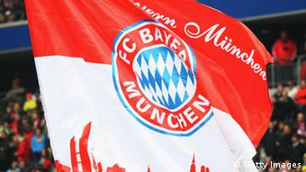 A Bayern Munich flag waves in the stand (Getty Images)