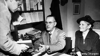 Thomas Mann mit seiner Frau Katia. Foto: AFP