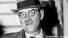FRANKFURT MAIN, GERMANY: German writer Thomas Mann, 74, (1875-1955) poses for a picture in July 1949 in Frankfurt/Main after returning to his native country after more than fifteen years. Mann, the Nobel Prize for Literature in 1929, wrote his early masterpiece 'Buddenbrooks' in 1901, tracing the decline of a family over four generations. He produced several short stories and novellas, such as 'Der Tod in Venedig (1913, Death in Venice), then he wrote 'Der Zauberberg' (1924, The Magic Mountain). (Photo credit should read AFP/AFP/Getty Images)