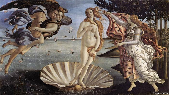 Gemälde Geburt der Venus von Sandro Botticelli