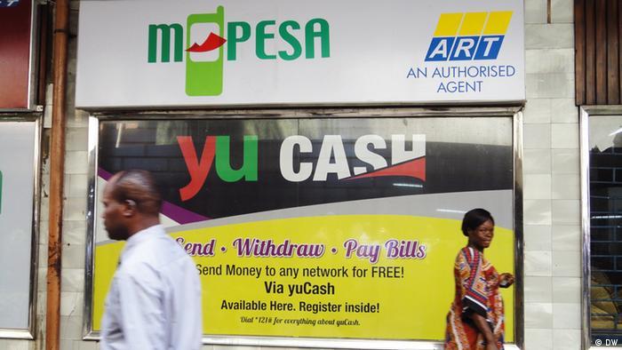 M-Pesa billboard in Kenya. Photo: Alfred Kiti