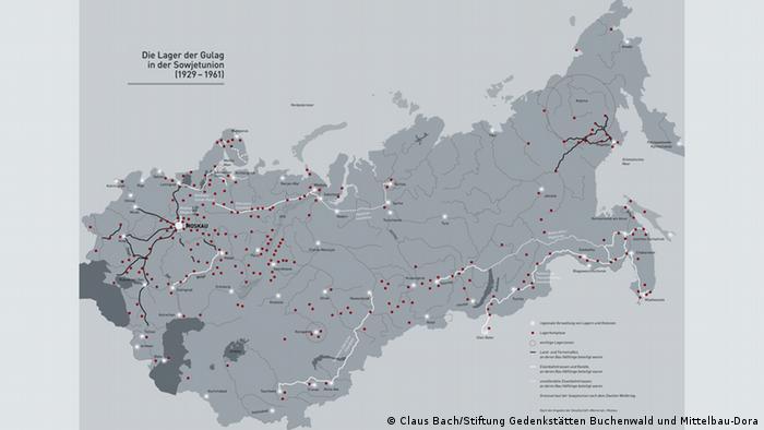 ГУЛАГ. Точки на карте - места отбывания наказаний