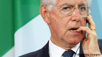 Italian Prime Minister Mario Monti (Photo by Adam Berry/Getty Images)