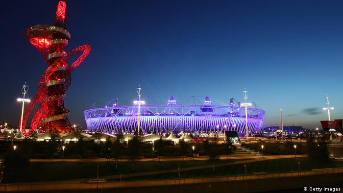 A general view of the Olympic Stadium and Orbit during the opening ceremony of the London 2012 Paralympics
