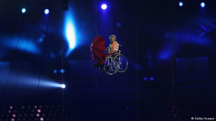 LONDON, ENGLAND - AUGUST 29: Miranda performs during the Opening Ceremony of the London 2012 Paralympics at the Olympic Stadium on August 29, 2012 in London, England. (Photo by Clive Rose/Getty Images)