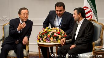 Ban Ki-Moon mit Mahmoud Ahmadinejad in Teheran