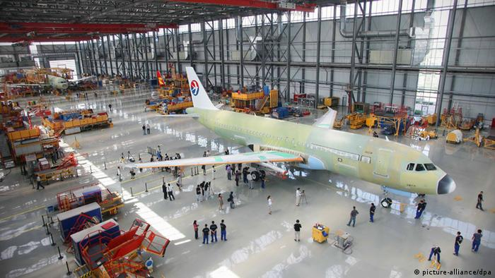 Airbus facility in Tianjin (picture-alliance/dpa)