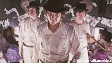A still image taken from the film 'A Clockwork Orange', by director Stanley Kubrick. The reclusive 70-year-old US director, whose films included 2001: A Space Odyssey, The Shining and Full Metal Jacket, has died at his home near Harpenden, Hertfordshire, at the ageof 70. dpa (UK OUT)