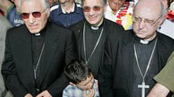Three Spanish bishops take part in a rally against gay marriage