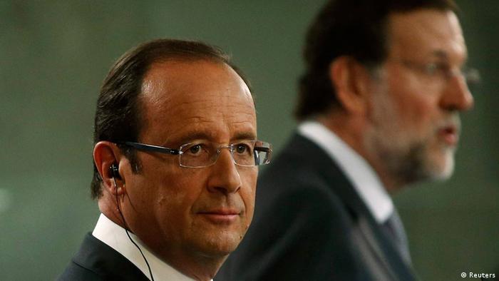 Francois Hollande and Mariano Rajoy. (Photo: REUTERS/Juan Medina)