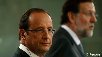 French President Francois Hollande (left) and Spanish Prime Minister Mariano Rajoy (photo: REUTERS/Juan Medina)