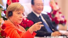 Bundekanzlerin Angela Merkel Besuch China Tianjin