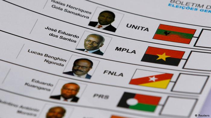 Stimmzettel für die Wahl in Angola am 31. August 2012 (Foto: Reuters)
