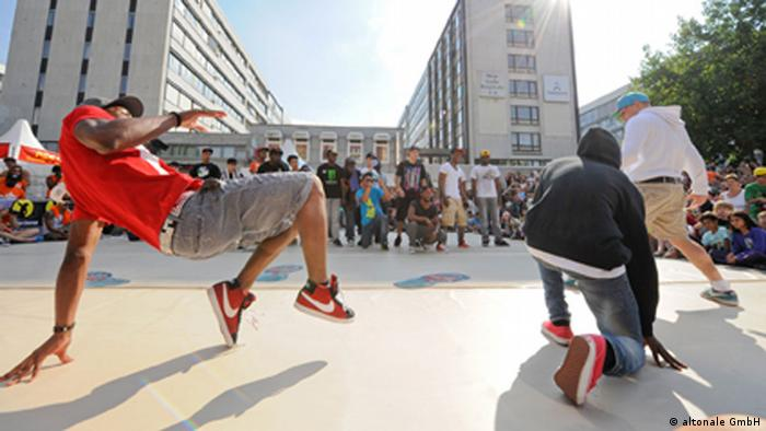 Breakdancing at the Stamp Festival in Hamburg