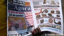 Titel: Angola Wahl Zeitungen Text: angolanische Zeitungen zur Wahl vom 31.8.2012 Ort: Luanda/Angola Datum: 02.09.2012 Foto: António Cascais Kein Honorar Rechte abgetreten Zulieferer: Cristina Krippahl