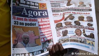 Angola Wahlen Zeitungen