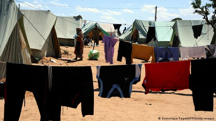 Лагерь беженцев в Тунисе