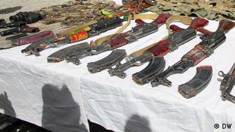 Weapons seized from militants in Afghanistan (Photo: DW / Qadir Wafa)