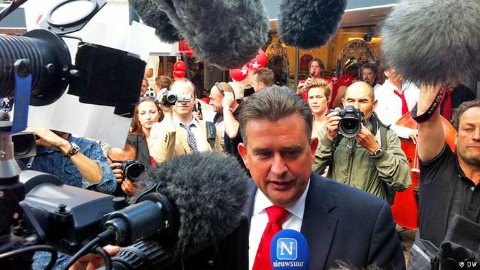 Emile Roemer, Spitzenkandidat der Sozialistischen Partei (SP) der Niederlande. Foto: Ralf Bosen