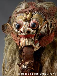 A mask representing the Balinese demon queen Rangda from the new exhibition Fools. Artists. Saints. Masters of Chaos at the Bundeskunsthalle in Bonn.