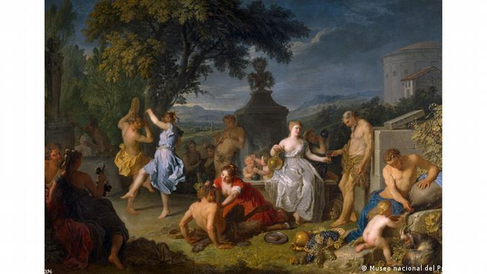 Carnival of disorder: Michel-Ange Houasse's 'Bacchanal' from 1719 from the new exhibition Fools. Artists. Saints. Masters of Chaos at the Bundeskunsthalle in Bonn.