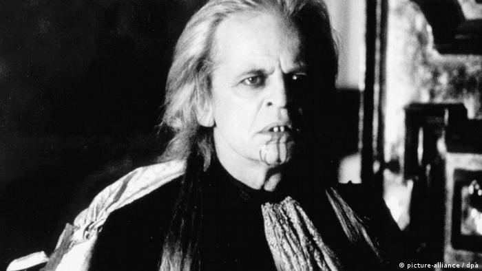 Klaus Kinski as Nosferatu in the film by Werner Herzog