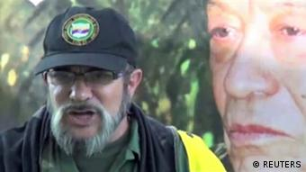 Timoleon Jimenez, rebel commander of the Revolutionary Armed Forces of Colombia (FARC)