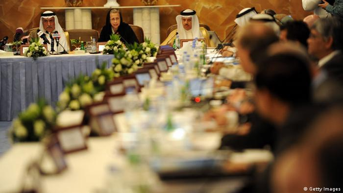 Saudi Arabia's Finance Minister Ibrahim al-Assaf and World Bank President Inger Andersen chair an international donor meeting for Yemen