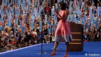 Michelle Obama at the Convention REUTERS/Jessica Rinaldi