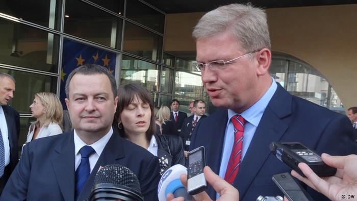 Ivica Dačić i Štefan File 2012. u Briselu