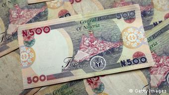 Nigeria Geld Geldscheine Naira in Lagos