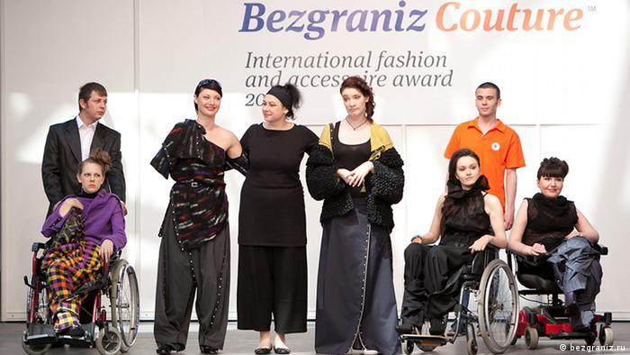 Modeschau für Behinderte in Moskau