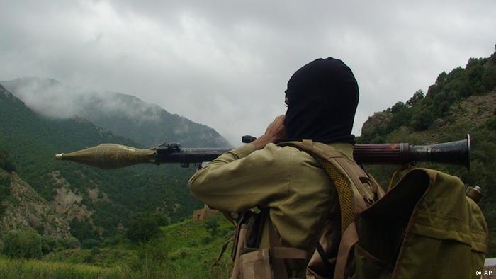 تصویر از آرشیف: یک جنگجو در وزیرستان شمالی