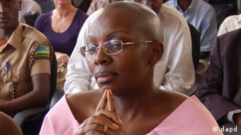Rwandan opposition leader Victoire Ingabire listens to the judge during her trial in Kigali, Rwanda . Photo:Shant Fabricatorian/AP/dapd)