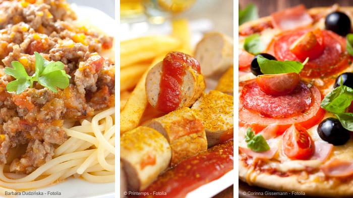 Typisches Essen in Deutschland
