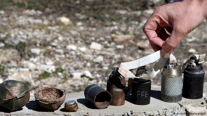 Неразорвавшиеся кассетные боеприпасы