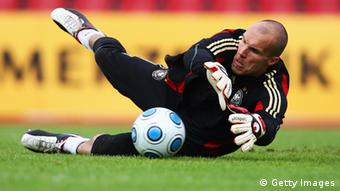 Robert Enke in action(Photo by Vladimir Rys/Bongarts/Getty Images)