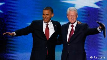 US Wahlen Barack Obama und Bill Clinton